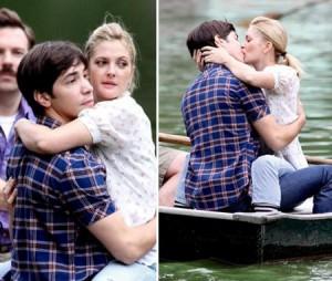 Drew Barrymore e Justin Long gravam cenas românticas.