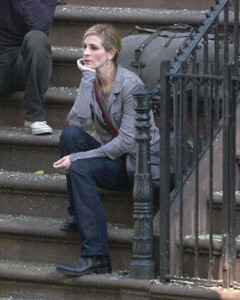 Julia Roberts e Javier Bardem filmam novo longa de Ryan Murphy em Nova York.
