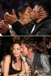 Jada Pinkett Smith e Brad Pitt revelam os lugares que mais gostam de fazer amor. Ela, com o marido, Will Smith. E ele com a mulher, Angelina Jolie.