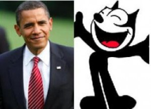 """Colunista do """"Financial Times"""" compara Barack Obama ao Gato Felix."""