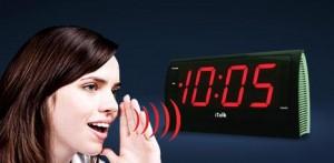 Um despertador que atende aos comandos de voz