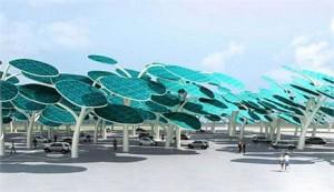 Floresta de energia solar