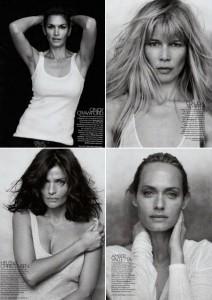 """Supermodelos posam sem nenhuma maquiagem para a revista """"Bazaar""""."""