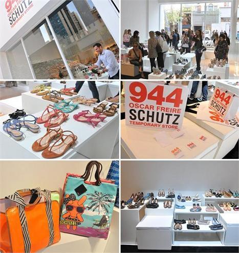 52d971e38 Alexandre Birman estourando a champanhe de inauguração da nova loja da  Schutz: clientes vão ajudar