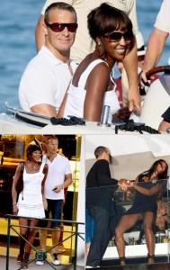 Naomi Campbell e Vladimir Doronin curtem o verão europeu.