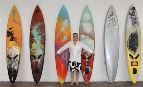 Trabalho do artista Steve Miller: criatividade sobre as ondas
