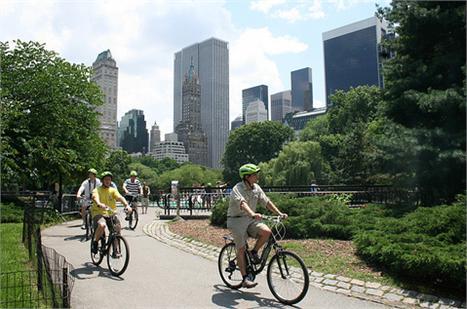 Passei de bike no Central Park: um clássico de Nova York