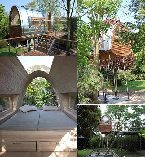 Baumraum cria séries de casas na árvore