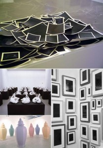 Sete obras do estrelado artista plástico norte-americano Allan McCollum, um dos destaques da última Bienal de São Paulo, vão desembarcar na Galeria Luciana Brito