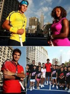 Nike monta quadra de tênis em plena Broadway.