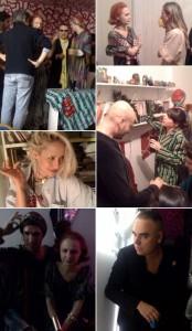 O estilista Dudu Bertholini recebeu nessa sexta-feira, no apartamento dele em Higienópolis, em São Paulo, Ana e Jorge Kauffman.