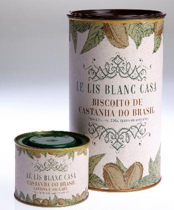 Le Lis Blanc recebe, na loja do Iguatemi, dois produtos inusitados: a Castanha do Brasil fatiada e salgada e o Biscoito de Castanha do Brasil.