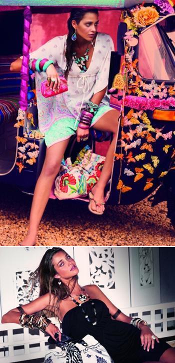 A brasileira Ana Beatriz Barros é a estrela da mais nova campanha mundial da Accessorize para o verão do hemisfério norte.