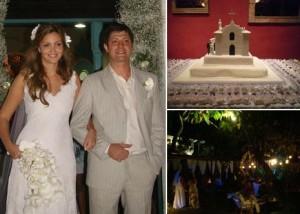 Maria Cortez e Ricardo Losso se casaram nesse sábado na charmosa igrejinha do Quadrado, em Trancoso.