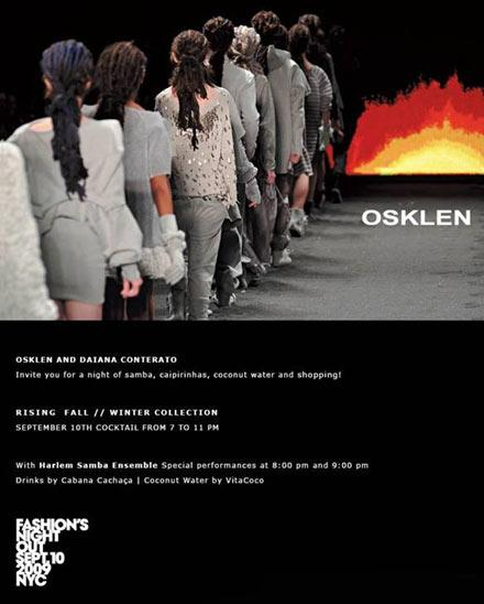 Convite da Osklen para o Fashion's Night Out: moda para o bem