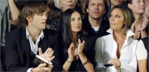 Victoria e David Beckham trocaram de melhores amigos. Os eleitos? Ashton Kutcher e Demi Moore.