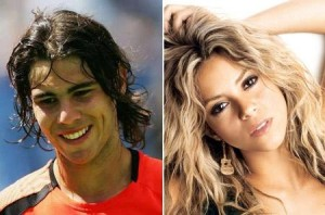 Rafael Nadal paquera a cantora Shakira em festa.