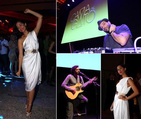 Estrela da festa: Camila Pitanga em dois momentos do lançamento, show de Paulinho Moska e set list de Rodrigo Penna