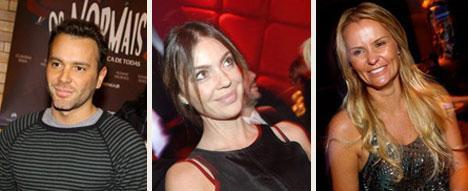 Matheus Mazzafera, Simone Abdelnour e Érika dos Mares Guia: festa íntima
