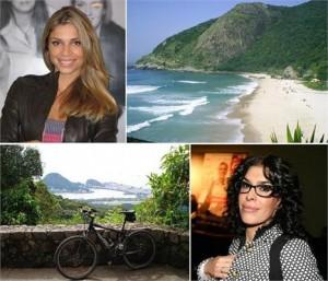 Grazi Massafera e Paula Lavigne são as nossas colaboradoras desta semana, e dão um tom pra lá de relax para a coluna Canto do Rio.