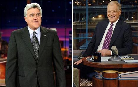 Jay Leno e David Letterman: alfinetadas