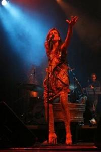 Mariana Aydar emocionou a plateia do Canecão, no Rio, nessa quarta-feira.
