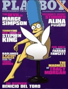 """Marge Simpson na capa da edição de novembro da """"Playboy"""" norte-americana? Sim, pode crer! Segundo o site """"E! Online"""", a matriarca da família Simpson vai aparecer na revista como veio ao mundo."""