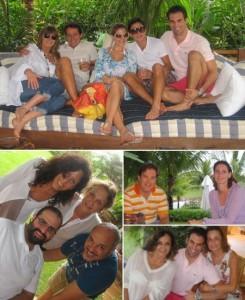 Foi em uma tarde animada, nesse sábado, que Murilo Lomas começou a comemorar o aniversario em Trancoso.