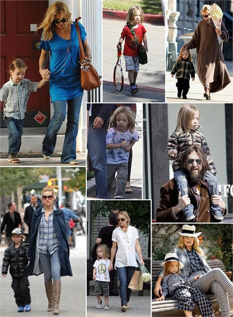Ryder Hudson, filho de Kate Hudson, é um dos pequenos mais descolados e Hollywood.