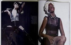 """Pane na redação: a """"Vogue"""" francesa está sendo acusada de racismo e tudo porque a modelo holandesa Lara Stone foi pintada de negra para um ensaio da edição deste mês da revista."""