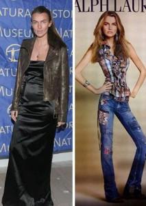 A tradicional marca de roupas Ralph Lauren está sendo acusada de demitir uma de suas modelos mais antigas por ela estar acima do peso.