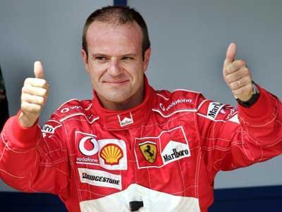 Rubinho Barrichello: em cima do pódio