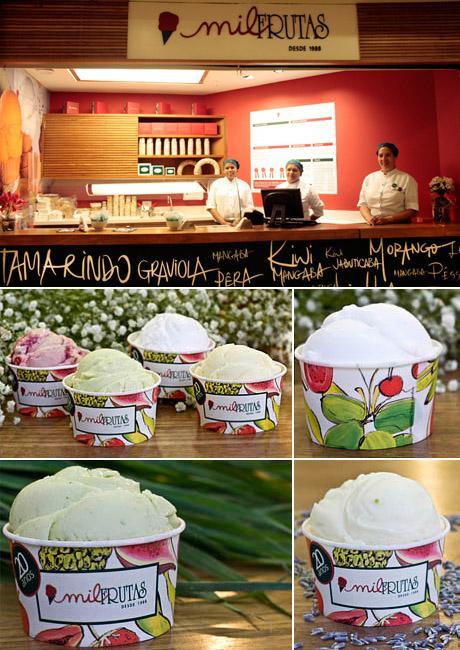 Essa vai deixar os glamurettes com água na boca. Queridinha do público carioca e conhecida por fazer sorvetes artesanais, sem corante ou gordura hidrogenada, a Mil Frutas inaugurou no shopping Iguatemi.