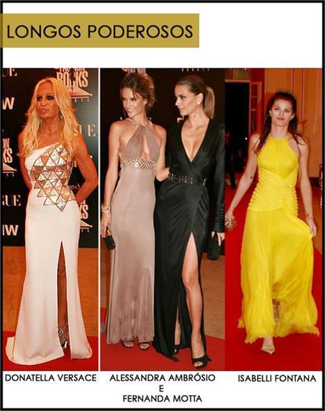 """A Versace, comandada por Donatella, vai desfilar neste sábado no Oi Fashion Rocks. Famosa por ressaltar a feminilidade das poderosas pelo mundo, a Maison possui vestidos longos e sensuais. No """"red carpet"""" do jantar dessa sexta-feira, realizado no Copa, as"""