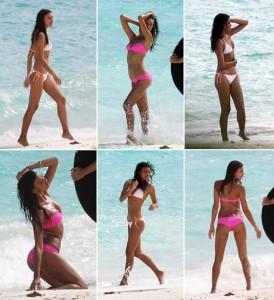 Alessandra Ambrosio não é a única Angel brasileira que desembarcou em St. Barth para ser clicada para o catálogo de verão da Victoria's Secret. Emanuela de Paula também integra o casting.