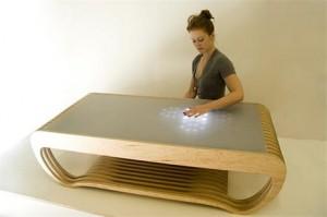 Mesa de café interativa
