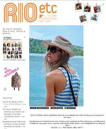 The Sartorialist, Face Hunter, Garance Dorè… e Rio Etc. Sim, nós temos um site voltado para a moda das ruas do nosso país que é o máximo.