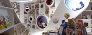 Livraria chinesa recria ambientes de sonhos para as crianças.