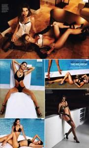 """Ana Beatriz Barros e Alessandra Ambrosio estrelam editorial sexy na edição de dezembro da """"GQ"""" inglesa."""