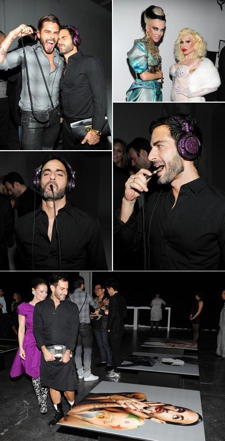 Lorenzo Martone, Marc Jacobs, Daphne Guiness e Amanda Lepore  Marc  brincando com os 8d94c4f5f0