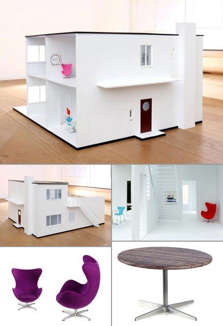 Casa de bonecas produzida por marca dinamarquesa é um sonho para os pequenos!