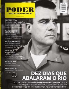 Mário Sérgio de Brito Duarte: capa da PODER de novembro