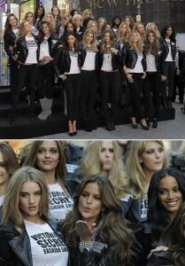Tops da Victoria's Secret causam alvoroço em Nova York.