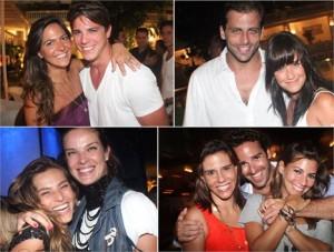 Festa armada por Carol Sampaio no Copa reune uma lista de bacanas.