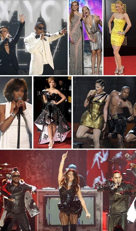Alicia Keys e Jay-Z, Nicole Kidman e Kate Hudson, Shakira, Rihanna, J-Lo antes do acidente e a Banda Black Eyed Peas: show em Los Angeles