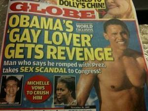 """Tabloide """"The Globe"""" diz que Obama teve caso gay no passado."""