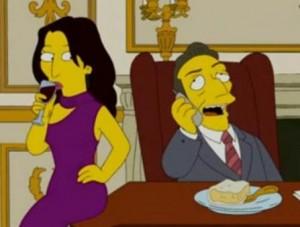 O episódio do desenho animado Os Simpsons com Nicolas Sarkozy e Carla Bruni vira febre.