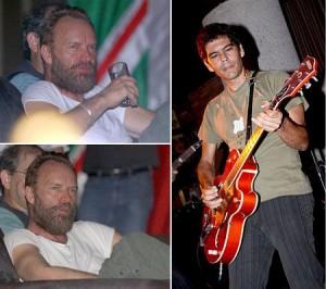 O cantor Sting é visto aproveitando a noite na boate Londra, no Rio.