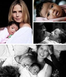 Acabam de ser divulgadas as primeiras fotos da filha caçula de Heidi Klum e Seal