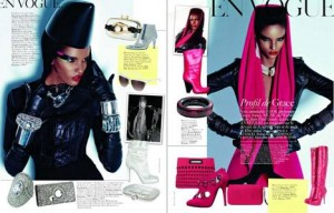 "Top Rose Cordero encarna Grace Jones em editorial da ""Vogue"" francesa."